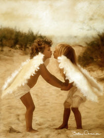 Angels kissing by Betsy  Cameron