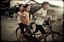 Girls on a Bike by Tracey  Tomtene