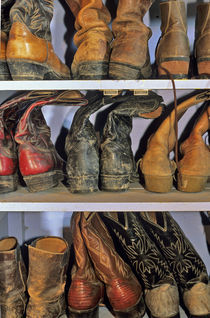 Cowboy Boots at ranch in Marion Montana von Danita Delimont