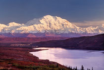 Wonder Lake and Mt. Denali at sunrise in the fall by Danita Delimont