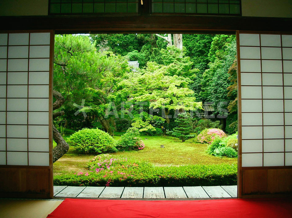 Asia Japan Kyoto Zen Garden Picture Art Prints And Posters By