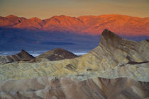 Mornings first light on Zabriskie Point and Death Valley Below, California