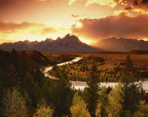 Teton Range at sunset, from Snake River Overlook by Danita Delimont