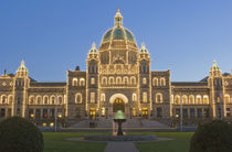 Canada, BC, Victoria, BC Legislature Building at Dusk by Danita Delimont