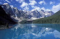 Moraine Lake, set in the Valley of Ten Peaks, Canada. by Danita Delimont