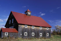 NA, USA, Maine Red-roofed barn by Danita Delimont