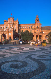 Horse drawn carriage in the Plaza de Espana in Seville von Danita Delimont