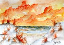 orange beach fall painting von Derek McCrea