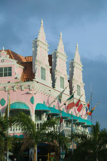 ABC Islands - ARUBA - Oranjestad: Dutch Style Architecture on LG Smith Boulevard von Danita Delimont