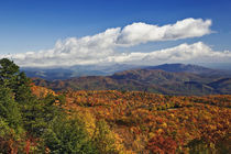 Autumn view of Southern Appalachian Mountains from Blue Ridge Parkway, Carolina von Danita Delimont
