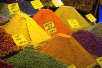 Spices in the Spice Market, Istanbul Turkey by Danita Delimont