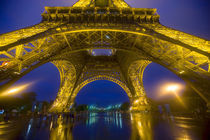 France, Paris. Eiffel Tower illuminated at night. Credit as by Danita Delimont