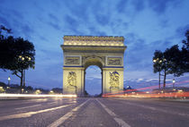 Europe, France, Paris. Arc de Triomphe as viewed from the Champs Elysees by Danita Delimont