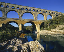 Europe, France, Pont du Gard by Danita Delimont
