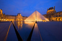 Europe, France, Paris. The Louvre museum at twilight. Credit as by Danita Delimont