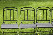 AUSTRIA-Vienna : Park Benches Burggarten / Palace Gardens by Danita Delimont