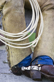 Cowboy Spurs & Chaps in Judith Gap Montana  MR by Danita Delimont