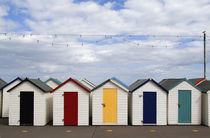 Colorful bath houses in Paignton in  England Devon called the English Rivera von Danita Delimont