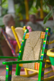 BARBADOS, Dover Beach Rocking Chair Detail Casuarina Beach Club von Danita Delimont