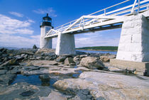 NA, USA, Maine, Port Clyde.  Marshall Point lighthouse. by Danita Delimont