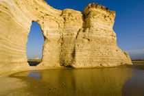 The Keyhole of the Monument Rocks aka Chalk Pyramids in western Kansas by Danita Delimont