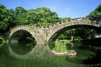 Spectacles Bridge, Isahaya, Nagasaki, Japan by Danita Delimont