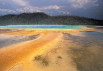 NA, USA, Wyoming, Yellowstone NP Grand Prismatic Geyser by Danita Delimont