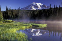 N.A., USA, Washington, Mt. Rainier Nat'l Park Reflection Lake, early morning von Danita Delimont