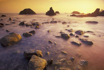 NA, USA, California, Northern California Sunset along Crescent Beach by Danita Delimont