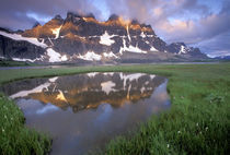 NA, Canada, Alberta, Tonoquin Valley. Jasper National Park. The Ramparts by Danita Delimont