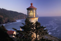 NA, USA, Oregon Heceta Head Lighthouse, evening light von Danita Delimont