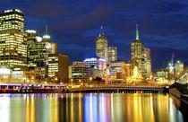 Melbourne, Australia. A nighttime in Melbourne,