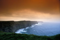 UK, Ireland, County Clare, The Cliffs of Moher, filtered sky by Danita Delimont