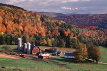 Vermont farm in the fall. (PR) by Danita Delimont
