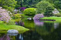 USA, Maine, Northeast Harbor. View of Asticou Azalea Gardens. Credit as by Danita Delimont