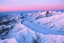 Alaska Range with Alpen Glow,  Denali National Park, Alaska, USA von Danita Delimont