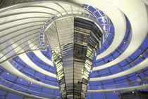 Europe, Germany, Berlin. The Reichstag, interior dome view in evening