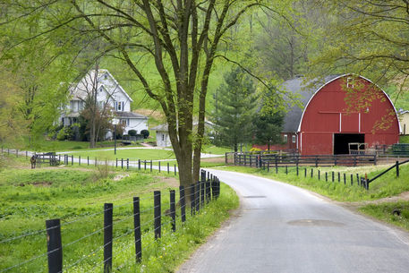 Quot Red Barn And Farm House Near Berlin Ohio Quot Picture Art