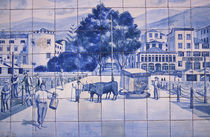 Portugal, Madeira-Funchal. Historic Azulejos Tiles. by Danita Delimont