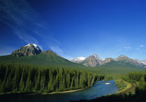 Bow River near Banff National Park in Alberta Canada by Danita Delimont