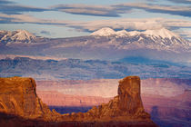 USA, Utah. Scenic of La Sal Mountains from Dead Horse Point State Park by Danita Delimont
