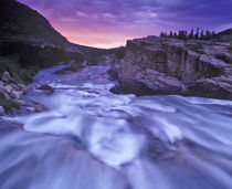 Swiftcurrent Falls in Glacier National Park in Montana by Danita Delimont
