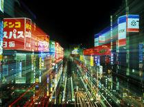 Japan, Tokyo, Shinjuku Neon von Danita Delimont