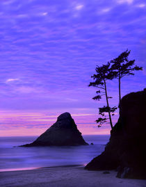 USA, Oregon, Sunset over rock formations at Devil's Elbow State Park. Credit as von Danita Delimont