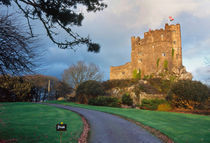 Wales, A private castle near St. David's Cathedral in golden afternoon light by Danita Delimont