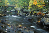 The bridge at Packers Falls on the Lamprey River.  Durham, NH by Danita Delimont