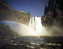 WA, Snoqualmie Falls. Spring runoff roars over 268 ft high falls. von Danita Delimont