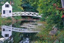NA, USA, Maine.  Bridge over pond in Somesville. by Danita Delimont