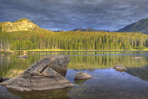 Minneopa Lake catches dramatic morning light in the Pioneer Mountains, Montana by Danita Delimont