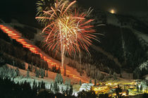 Torchlight parade and fireworks during Winter Carnival at Big Mountain by Danita Delimont